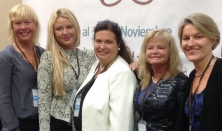 2013 in Lima: Ida Backlund, Rapunzel and Signhild Arnegård Hansen, Svenska Lantchips together with previous Swedish IWEC awardees and Charlotte Kalin, Make Trade