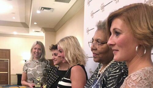 2017 in Seattle: Helene Åkerström Hartman from Orbaden Spa & Resort, Marie Lindqvist Pahlstad and Jenny Helldén from Zilenzio together with IWEC's chair Ruth Davis and HRH Princess Noor Asem of Jordan.