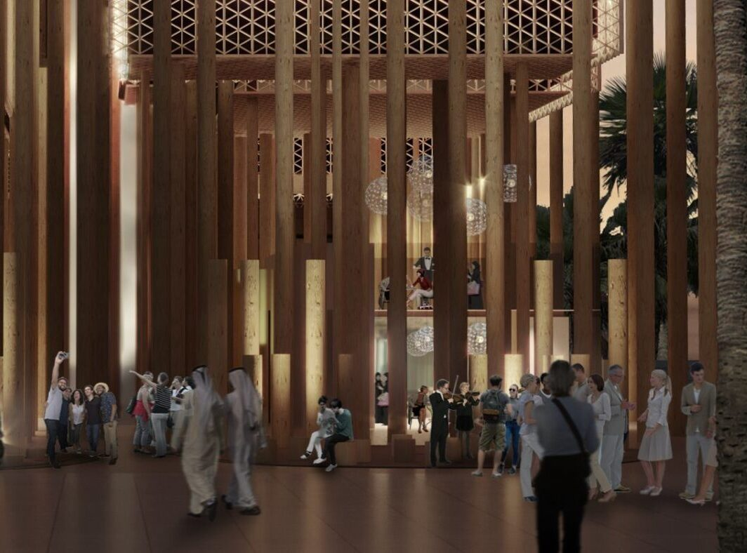 The Swedish Pavilion at Expo 2020 in Dubai: The Forest.